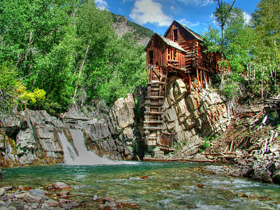 Old Mills Photograph - The Crystal Mill 1 by Ken Smith
