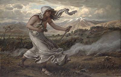 Ancient Scroll Painting - The Cumaean Sibyl by Elihu  Vedder
