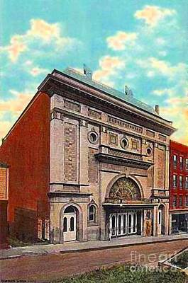 Painting - The Cummings Theatre In Fitchburg Ma In 1910 by Dwight Goss