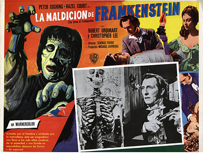 1957 Movies Photograph - The Curse Of Frankenstein, Peter by Everett