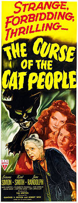 Of Black Cats Photograph - The Curse Of The Cat People, Clockwise by Everett
