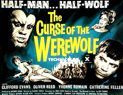 The Curse Of The Werewolf, From Left Art Print by Everett