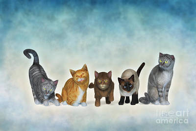 The Cute Ones Art Print by Jutta Maria Pusl