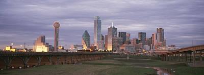 The Dallas Skyline At Dusk Art Print by Richard Nowitz