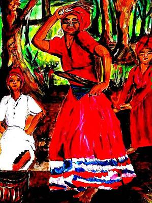 Shango Painting - The Dance by Bernadette Charles