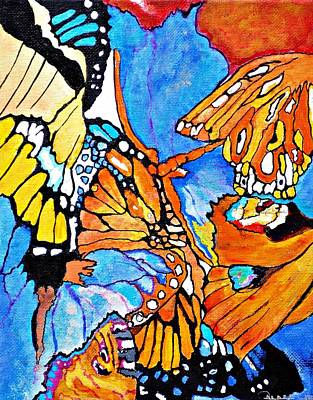 The Dance Of The Butterflies Art Print
