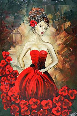 The Dancer In The Red Dress Art Print by Christine Krainock