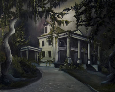 Haunted Mansion Painting - The Dark Plantation by James Christopher Hill