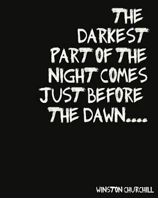 The Darkest Part Of The Night Art Print by Georgia Fowler