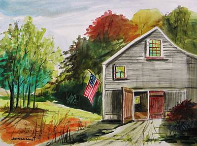 Blue Barn Doors Drawing - The Day After by John Williams
