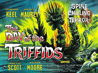 Horror Movies Photograph - The Day Of The Triffids, British Poster by Everett