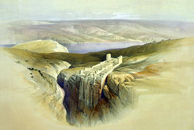 Photograph - The Dead Sea Looking Towards Moab April 4th 1839 by Munir Alawi
