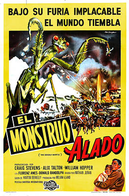 1957 Movies Photograph - The Deadly Mantis, Aka El Monstruo by Everett