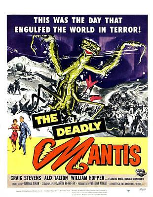The Deadly Mantis, Bottom From Left Art Print by Everett