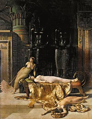 Collier Painting - The Death Of Cleopatra  by John Collier