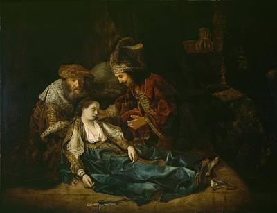 Suicide Painting - The Death Of Lucretia - Mid 1640s  by Harmensz van Rijn Rembrandt