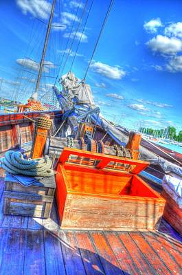 Helsinki Finland Digital Art - The Deck by Barry R Jones Jr