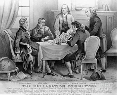 The Declaration Of Independence Art Print by Photo Researchers