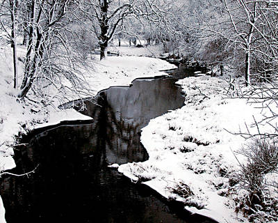 The Deep And Snowy Creek Art Print