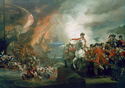 Battery Painting - The Defear Of The Floating Batteries At Gibraltar by John Singleton Copley
