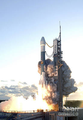 The Delta II Rocket Lifts Print by Stocktrek Images