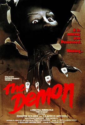Postv Photograph - The Demon, Poster Art, 1979 by Everett