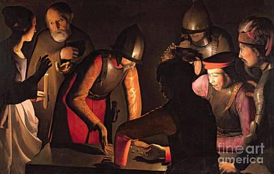 The Denial Of St. Peter Painting - The Denial Of Saint Peter by Georges De La Tour