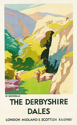 Hiker Painting - The Derbyshire Dales by Frank Sherwin