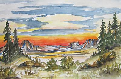 Art Print featuring the painting The Desert Long Forgotten-wcs by Cheryl Pettigrew
