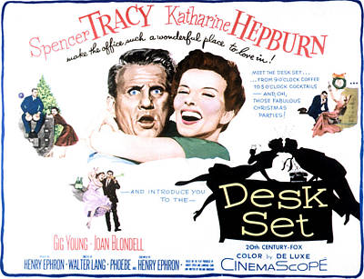 The Desk Set, Spencer Tracy, Katharine Art Print by Everett