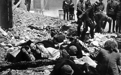 The Destruction Of The Warsaw Ghetto Art Print by Everett