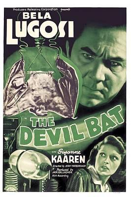 Bela Photograph - The Devil Bat, Bela Lugosi Top, Suzanne by Everett