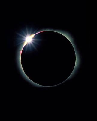 The Diamond Ring Effect During Total Sola Art Print by David Nunuk