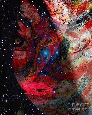 The Difference Between Myself And Me Art Print by Fania Simon