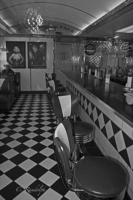 Photograph - The Diner B And W by Cheri Randolph