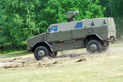 Dingo Photograph - The Dingo 2 In Use By The Belgian Army by Luc De Jaeger