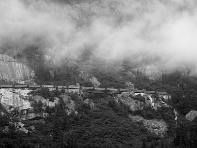Photograph - The Distant Train by Judy Wanamaker