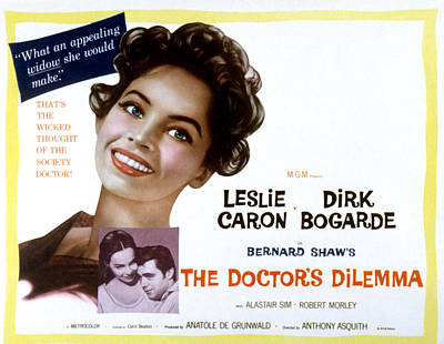 Fid Photograph - The Doctors Dilemma, Leslie Caron, Dirk by Everett