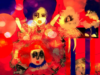 Art Print featuring the digital art The Dolls Are Out by Rc Rcd