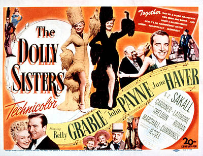 The Dolly Sisters, Betty Grable, June Art Print by Everett