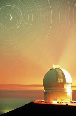 The Dome Of The Canada-france-hawaii Telescope Print by David Nunuk