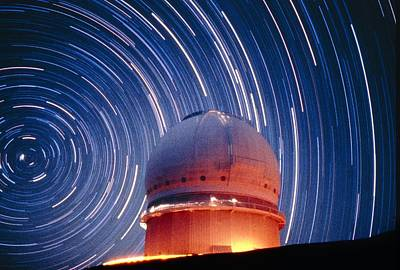 The Dome Of The Canada-france-hawaii Telescope Print by Dr Fred Espenak