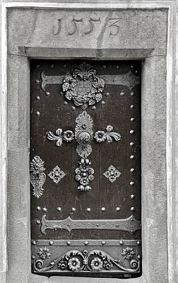 Wood Photograph - The Door - Ceske Budejovice by Christine Till