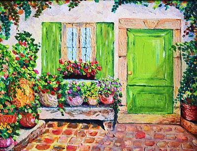 The Door Art Print by Cristina Gosserez
