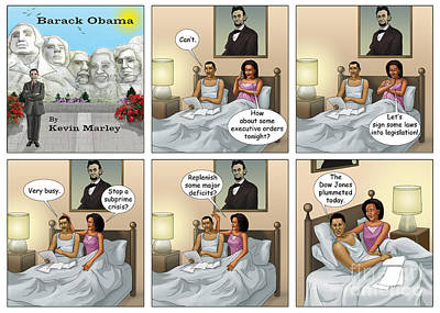 Michelle Obama Digital Art - The Dow Jones Plummetted by Kevin  Marley
