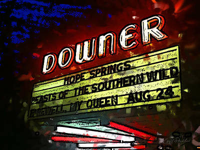 Digital Art - The Downer Theatre by Geoff Strehlow