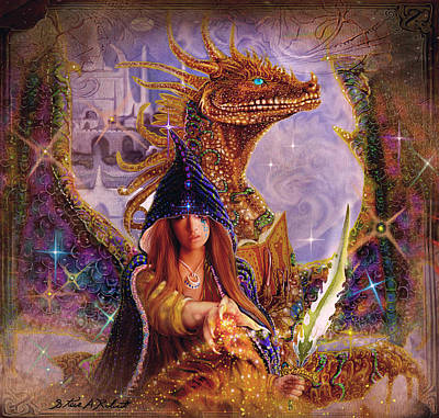 Print featuring the painting The Dragon Master by Steve Roberts