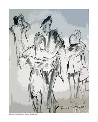 Drawing - The Drama Of The Dance by Reza Sepahdari