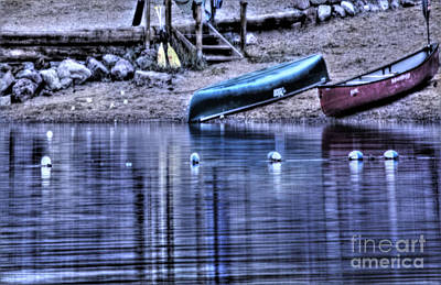 Art Print featuring the photograph The Dramatic Canoe Scene by Janie Johnson