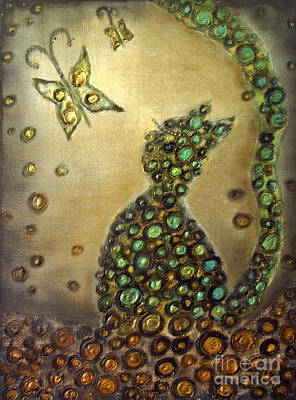 The Dreaming Cat Le Chat Reveur Art Print